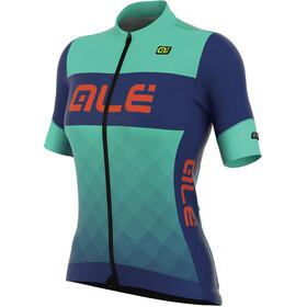Alé Cycling R-EV1 Rumbles Kortærmet cykeltrøje Damer blå/turkis